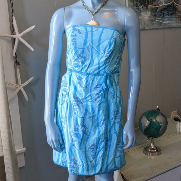 Lilly Pulitzer Dresses & Skirts - Lilly Pulitzer Sea Horse Strapless Dress